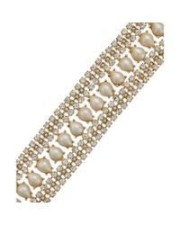 kate spade new york - Metallic New York Goldtone Crystal and Imitation Pearl Bracelet - Lyst