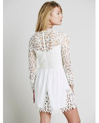 Free People | White Small Talk Pink Printed Dress | Lyst