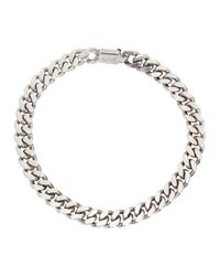 A.P.C. - Metallic Jarvis Silver Tone Chunky Chain Bracelet for Men - Lyst
