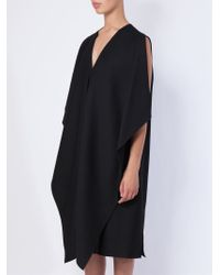 Maison Rabih Kayrouz - Black Oversized Cape Dress - Lyst