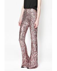 French Connection | Pink Lunar Sparkle Sequin Flares | Lyst