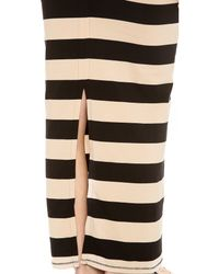 Free People | Natural Stripe Column Skirt | Lyst