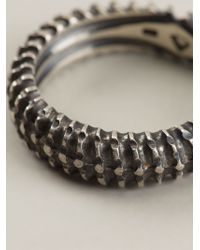 Vj By Vanni Pesciallo - Metallic 'backbone' Ring - Lyst