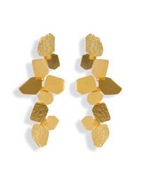 Herve Van Der Straeten | Metallic Hammered Gold-Plated Ciselle Clip Earrings | Lyst