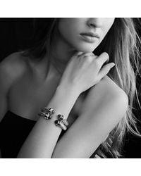 David Yurman - Blue Renaissance Bracelet With Gold, 8.5mm - Lyst
