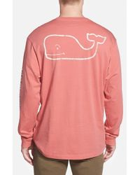 Vineyard Vines | Red Whale Graphic Long Sleeve T-shirt for Men | Lyst