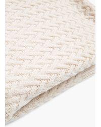 Mango | Natural Herringbone Textured Sweater | Lyst