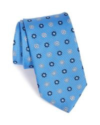 Eton of Sweden | Blue Floral Print Silk Tie for Men | Lyst