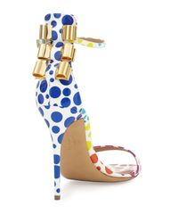 Ferragamo - Blue Angie Barely-there Bow Back Sandal - Lyst