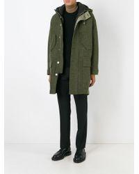 Neil Barrett - Green Classic Duffle Coat for Men - Lyst