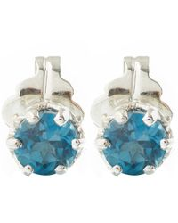 Anna Sheffield | Blue Topaz Petit Stud Earrings | Lyst