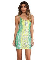 Indah - Multicolor Bait Fully Sequined Tank Dress - Lyst