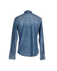 Fred Mello - Blue Denim Shirt for Men - Lyst