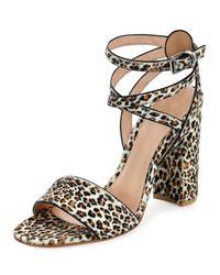 Gianvito Rossi - Multicolor Printed Calf Hair Sandals  - Lyst
