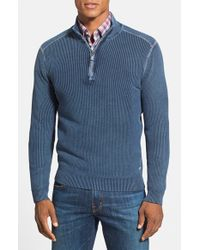 Tommy Bahama | Blue 'new East River' Island Modern Fit Half Zip Sweater for Men | Lyst