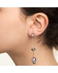 Nadia Minkoff | Blue Glass Skull & Spike Earrings Crystal Paradise | Lyst