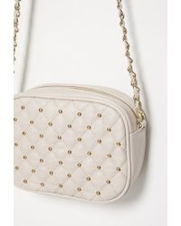 Forever 21 - Brown Quilted Faux Leather Crossbody - Lyst