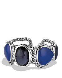 David Yurman - Blue Ultramarine Cuff With Black Orchid, Lapis Lazuli, And Gray Sapphires - Lyst