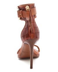 Rachel Zoe - Brown Melina Ankle Strap Sandals - Lyst
