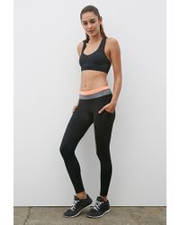 Forever 21 - Black Active Colorblock Yoga Leggings You've Been Added To The Waitlist - Lyst