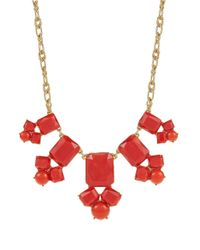 kate spade new york - Red Swirl Around Necklace - Lyst