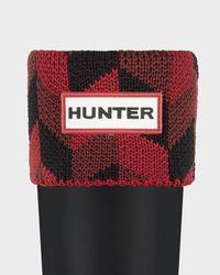 HUNTER - Black Original Kids' Geometric Dazzle Boot Socks - Lyst