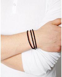 Seven London | Brown Leather Woven Wrap Bracelet for Men | Lyst