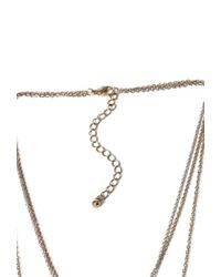 Forever 21 | Metallic Tasseled Faux Stone Necklace | Lyst