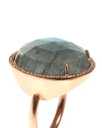 Irene Neuwirth - Green Diamond Labradorite Rosegold Ring - Lyst