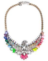 Shourouk | Multicolor Rainbow Phoenix Necklace | Lyst