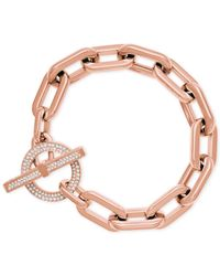 Michael Kors | Pink Chain Link Toggle Bracelet | Lyst