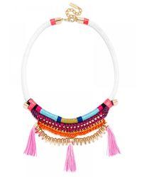 BaubleBar - Pink Antigua Tassel Bib - Lyst