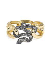 Alexis Bittar - Metallic Encrusted Serpent Hinge Bracelet - Lyst
