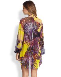 Jean Paul Gaultier - Multicolor Palm print Coverup - Lyst