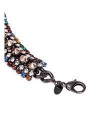 Iosselliani - Multicolor Gunmetal Chain Bracelet - Lyst