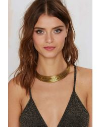 Nasty Gal | Metallic Lena Bernard Staying A Live Wire Collar | Lyst