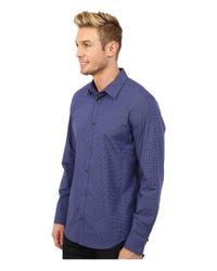 Calvin Klein   Blue Cool Tech Mini Check Poplin Woven Shirt for Men   Lyst