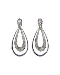 Alexis Bittar | White Encrusted Tear Dangling Clip Earrings | Lyst