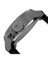 Swiss Legend - Submersible Black Silicone White Dial Gunmetal Ip Ss for Men - Lyst