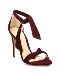 Alexandre Birman - Purple Clarita Suede Ankle-tie Sandals - Lyst