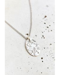 Urban Outfitters - Metallic Hammered High/low Necklace - Lyst