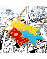 Noir Jewelry | Metallic Whak Pow Long Enamel Dc Comics Necklace | Lyst