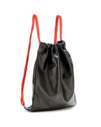 Alexander Wang - Black Gym Sack Leather Backpack - Lyst