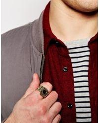 ASOS | Metallic Embellished Signet Ring for Men | Lyst
