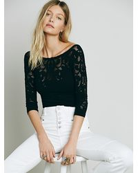Free People | Black Intimately Womens Midnight Story 3/4 Sleeve | Lyst