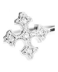 Stone - Metallic Passion 18kt White Gold Ring With White Diamonds - Lyst