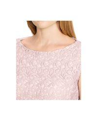 Lauren by Ralph Lauren - Pink Plus Size Cap-Sleeve Lace Shift Dress - Lyst