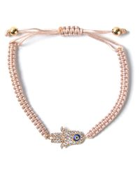 Aamaya By Priyanka - Natural Hamsa Hand Friendship Bracelet - Lyst