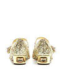 Dolce & Gabbana - Metallic Jackie Embellished Pumps - Lyst