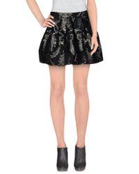 Dondup - Black Mini Skirt - Lyst